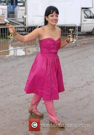 Lily Allen backstage at the 2007 Glastonbury Festival at Worthy Farm, Pilton - day 2 Somerset, England - 23.06.07
