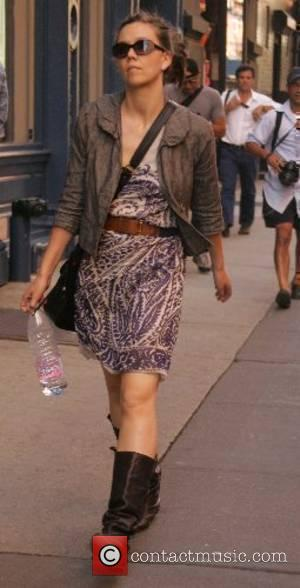 Maggie Gyllenhaal walking in SoHo New York City, USA - 06.06.07