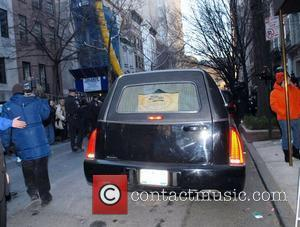 The casket of actor Heath Ledger is taken out of The Frank Campbell Funeral Home on Madison Avenue New York...