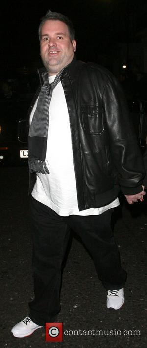 Chris Moyles leaving the Universal records afterparty for the Brit Awards, held at the Hemple Hotel. London, England - 21.02.08
