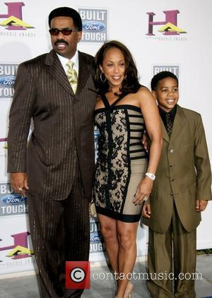 Steve Harvey and familly The 5th Annual Hoodie Awards Hosted By Steve Harvey at Orleans Arena Las Vegas, Nevada -...