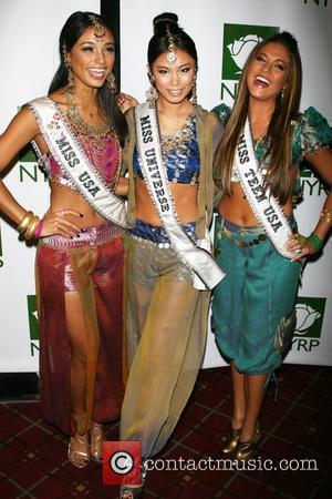 Miss USA Rachel Smith, Miss Universe Riyo Mori and Miss Teen USA Hillary Cruz 12th Annual Bette Midler's New York...