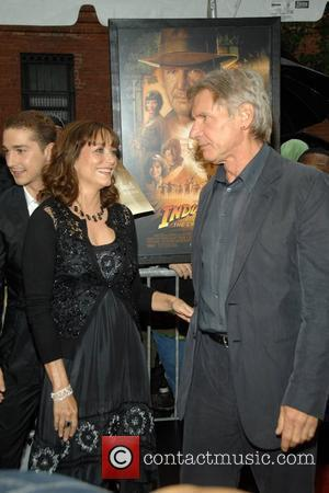 Karen Allen and Harrison Ford  New York premiere of 'Indiana Jones and the Kingdom of the Crystal Skull' at...