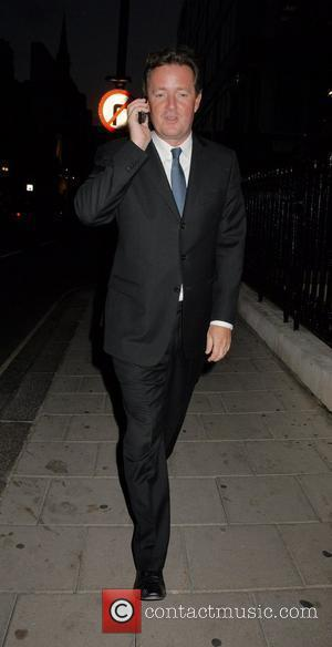 Piers Morgan leaving the 50 Years of Italian Style launch party at the Royal Academy of Arts London, England -...