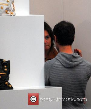 Katie Holmes shopping at The Corner at Gendarmenmarkt Berlin, Germany - 30.07.07