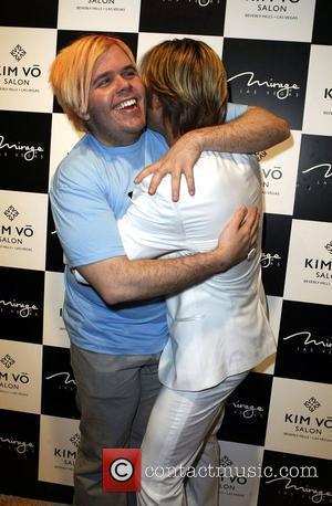 Perez Hilton and Kim Vo Kim Vo grand opening at the Mirage Hotel - Arrivals Las Vegas, Nevada - 07.03.08