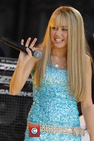 Miley Cyrus Disney's teen sensation Miley Cyrus, better known as Hannah Montana performs on Good Morning America's Summer Concert Series...