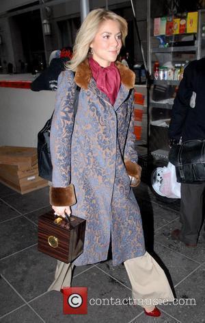 Miss America Kirsten Haglund leaving Fox studios in Manhattan New York City, USA - 29.01.08