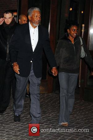 Morgan Freeman and Guest  'Miss Pettigrew Lives for a Day' New York Premiere at the Tribeca Grand Hotel -...