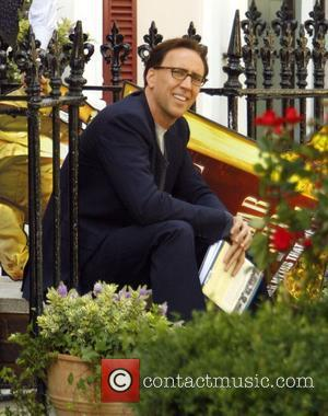 Nicholas Cage Filming on location in Primrose hill on the set of his latest movie