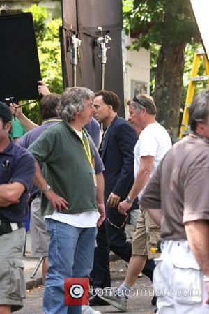 Nicolas Cage filming on location in Primrose Hill for his latest movie 'National Treasure 2' London, England - 03.08.07