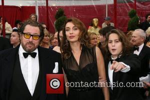 Julian Schnabel, Olatz Lopez Garmendia and Olmo Schnabel
