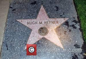 Replica of Hugh Hefner's star on the Hollywood Walk of Fame Carpe Noctem (Seize the Night) pajama and lingerie party...