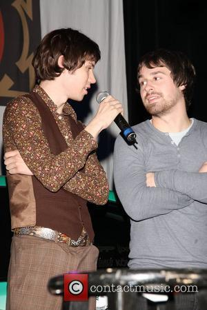 Ryan Ross and Jon Walker Panic at the Disco performs at Studio 540 at the American Honda Motor Company Torrance,...