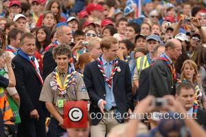 Prince William and the Duke of Kent  The 21st World Scout Jamboree opening ceremony  at Hylands Park, Chelmsford...