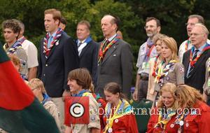 Prince William and the Duke of Kent, President of the Scout Association The 21st World Scout Jamboree opening ceremony...