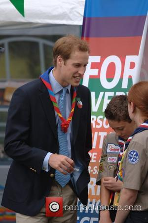 Prince William and Scouts  The 21st World Scout Jamboree opening ceremony  at Hylands Park, Chelmsford  Essex, London...