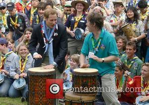 Prince William The 21st World Scout Jamboree opening ceremony  at Hylands Park, Chelmsford  Essex, London -28.07.07