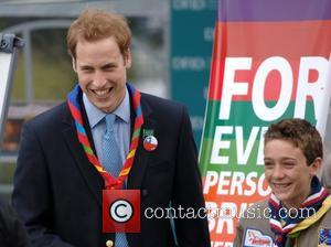 Prince William and Scouts  Prince William  The 21st World Scout Jamboree opening ceremony  at Hylands Park, Chelmsford...