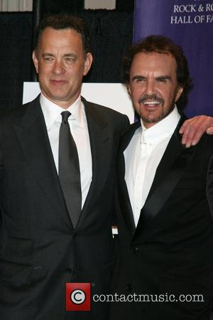 Tom Hanks and Dave Clarke 2008 Rock and Roll Hall of Fame at Waldorf-Astoria hotel - Press Room New York...