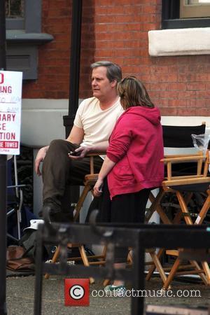 Jeff Daniels on the film set for 'The Dream of the Romans' Philadelphia, Pennsylvania - 24.04.08
