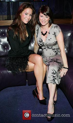 Roxanne McKee and Sinead Carroll (formerly of girlband B*Witched) at the launch of the 'Champagne and Shoes' ladies night at...