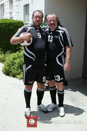 Steve Jones and Ray Winstone 'Soccer For Survivors' celebrity soccer match presented by the Hollywood United Football Club at Beverly...