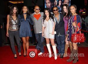 Jessica Szohr, Kim Kardashian and Marques Houston
