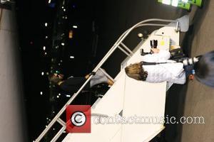 Spice Girls. Victoria Beckham Virgin Atlantic names plane Spice One at LAX Los Angeles, California - 12.12.07