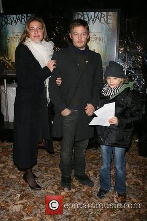 Rachel Sheedy, Norman Reedus, daughter Special screening of 'Spiderwick Chronicles' at AMC Lincoln Square theatre New York City, USA -...
