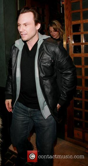 Christian Slater leaving The Ivy restaurant London, England - 19.01.08