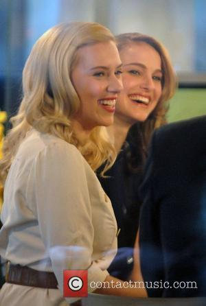Scarlett Johansson and Natalie Portman at NBC Studios appearing on The Today Show to promote their new movie 'The Other...