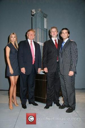 Ivanka Trump, Donald Trump, Eric Trump and Donald Trump Jr. Donald Trump announces the launch of Trump SoHo Hotel Condominium...