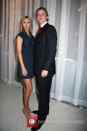 Ivanka Trump and Eric Trump  Donald Trump announces the launch of Trump SoHo Hotel Condominium New York New York...
