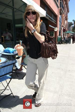 Actress Vera Farmiga leaving Caffe Del Arte with a fruit smoothie and a bruise on her nose Los Angeles, California...