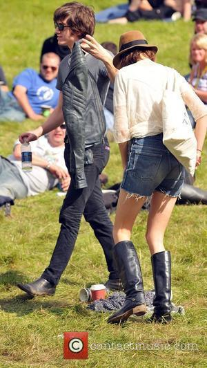 Alex Turner and Alexa Chung Carling Festival Leeds - Day Two Leeds, England - 23.08.08