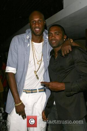Lamar Odom and Cuttino Mobley at Area nightclub Los Angeles, California - 09.09.08