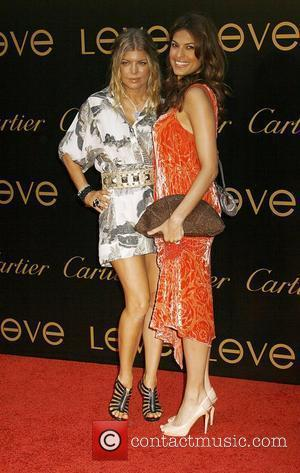 Fergie and Eva Mendes Cartier Charity Love Bracelet Launch - Arrivals held at a Private Residence Los Angeles, California -...