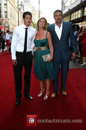 Tamer Hassan with his wife and son Premiere of Cass held at the Empire cinema London, England - 28.07.08