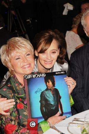 Gloria Hunniford and Cherie Blair Cliff Richard's 50th Anniversary Tribute Lunch at the Dorchester Hotel to aid the Variety Club...