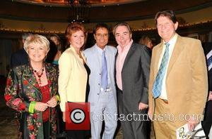 Gloria Hunniford, Cilla Black, Sir Cliff Richard, Lloyd Webber and John Madejski Cliff Richard's 50th Anniversary Tribute Lunch at the...