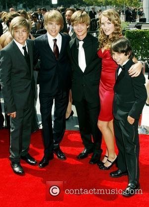 Dylan Sprouse, Cole Sprouse, Jason Earles, Emily Osment and Moises Arias 60th Primetime Creative Arts Emmy Awards at the Nokia...
