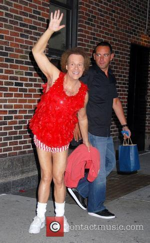 Richard Simmons and David Letterman