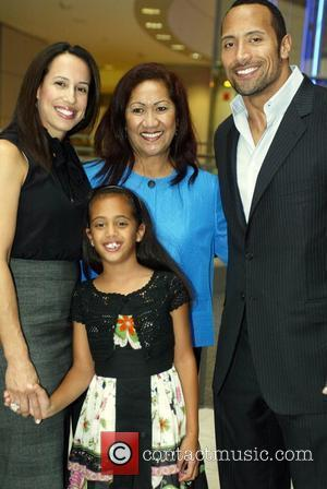 Dwayne Johnson aka The Rock with his ex-wife, mother and daughter attending the Congressional Awards 2008 Gold Medal Reception in...