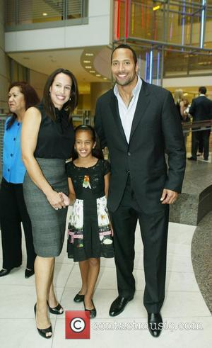 Dwayne Johnson, The Rock with his ex-wife and daughter attending the Congressional Awards 2008 Gold Medal Reception in honour of...