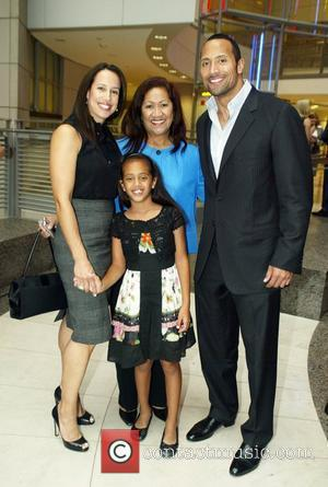Dwayne Johnson, The Rock with his ex-wife, mother and daughter attending the Congressional Awards 2008 Gold Medal Reception in honour...