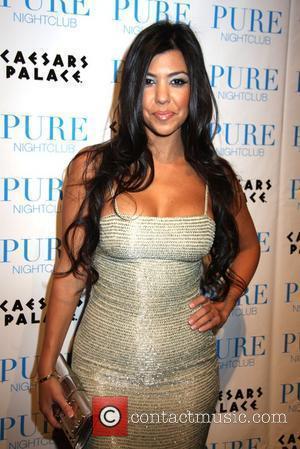 Kourtney Kardashian Khloe Kardashian celebrates her birthday at PURE Nightclub in Caesars Palace Hotel and Casino Las Vegas, Nevada -...