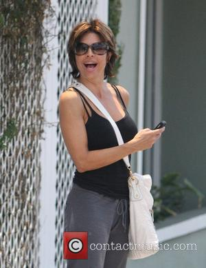 Lisa Rinna is in high spirits as she leaves Winsor Pilates Los Angeles, California - 17.07.08