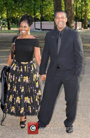 Denzel Washington and Pauletta Pearson Washington Nelson Mandela birthday dinner held in Hyde Park - Arrivals London, England - 25.06.08