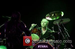 Lars Ulrich Metallica performing a special album lunch concert at the O2 Arena London, England - 15.09.08